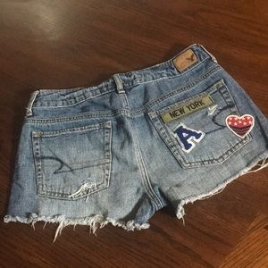 American Eagle Blue Jean shorts New York size 6